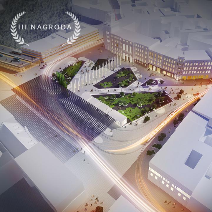 przestrzeń publiczna w rejonie rynku